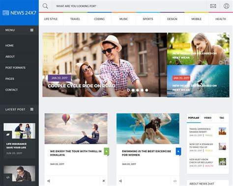 Best News Website 20 Best News And Magazine Website Templates 2018