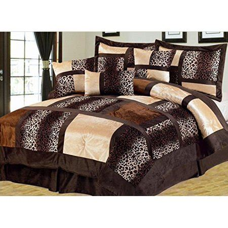 full comforter sets on sale empire home safari 7 brown size comforter set on sale walmart