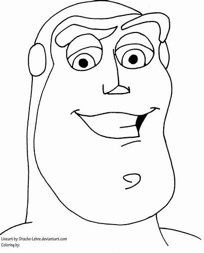 Buzz Lightyear Coloring Pages Face Drawing Head