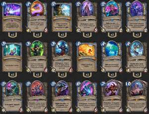 deck standard mage tempo c thun wotg hearthstone