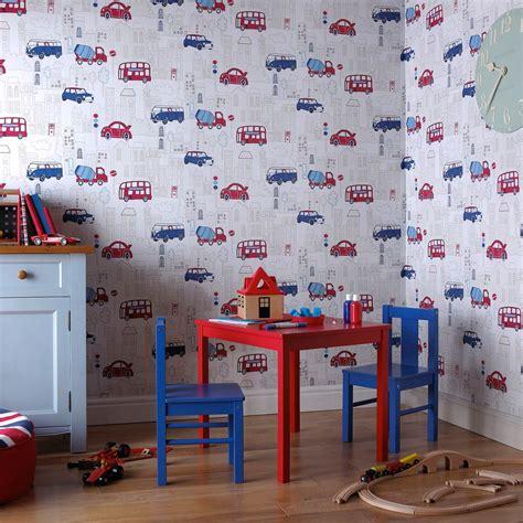 buy  blue  red motor mania wallpaper  arthouse