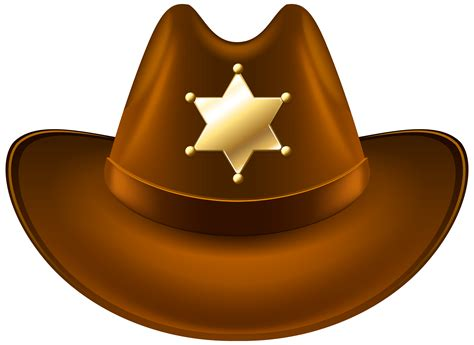 Transparent Background Hat Clipart Png by Cowboy Hat With Sheriff Badge Transparent Png Clip