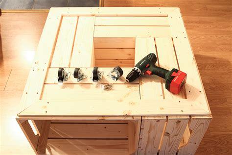 plateau de bureau bois on a testé le kit de table basse avec caisses en bois de