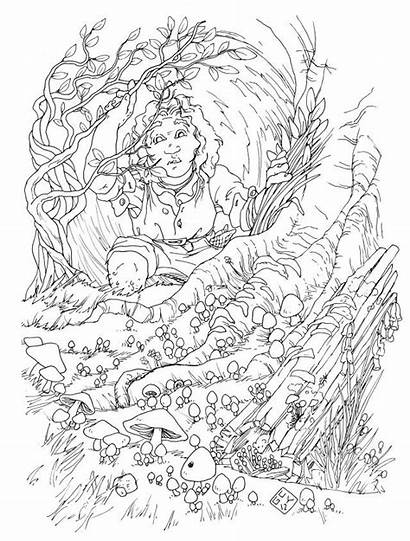 Hobbit Pages Colouring Hole Coloring Lord Rings