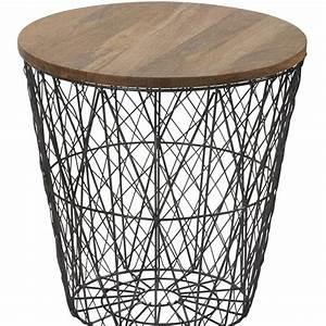 Bout De Canapé Filaire : bout de canap filaire m tal s 2 h46 37 5cm maison et styles ~ Farleysfitness.com Idées de Décoration