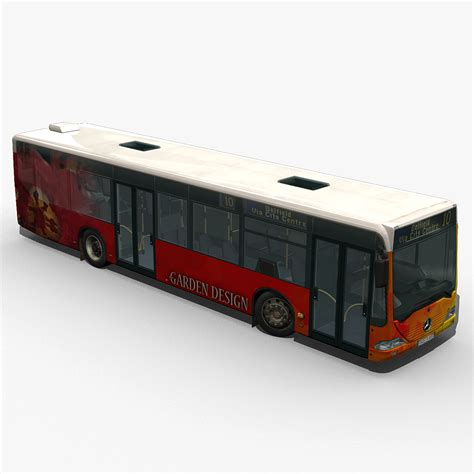 city bus mercedes citaro textured  model max obj ds cgtradercom