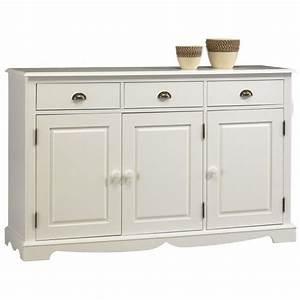 Buffet Blanc Pas Cher : buffet blanc de style anglais 3 portes 3 tiroirs beaux meubles pas chers meuble appart ~ Teatrodelosmanantiales.com Idées de Décoration