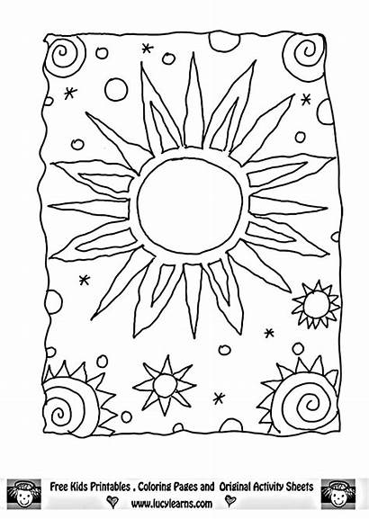Coloring Sun Moon Pages Adult Stars Printable
