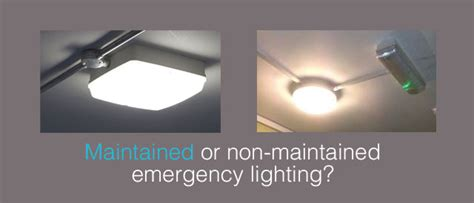 maintained or non maintained emergency lighting commulite