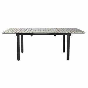 Table De Jardin En Aluminium : table de jardin en aluminium gris l 213 cm escale maisons du monde ~ Teatrodelosmanantiales.com Idées de Décoration
