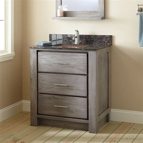 venica teak vanity  rectangular undermount sink