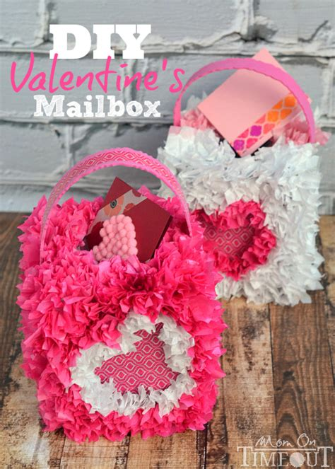 cute diy valentines day mailboxes  kids shelterness