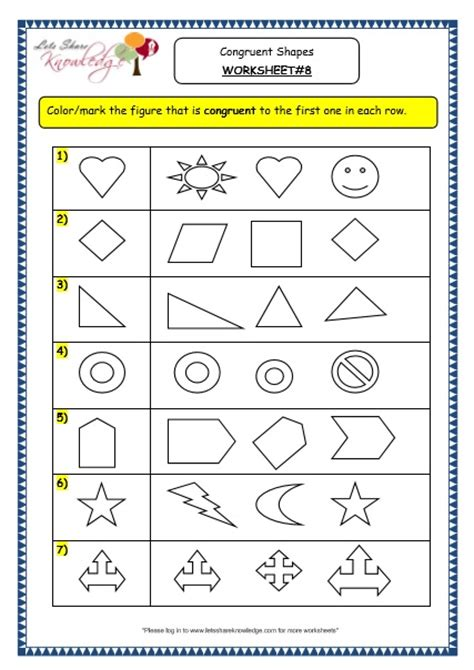 All Worksheets » Congruent Shapes Worksheets  Printable Worksheets Guide For Children And Parents