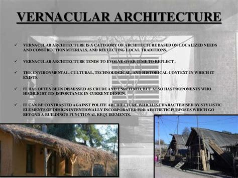 Vernacular Architecture And Factors