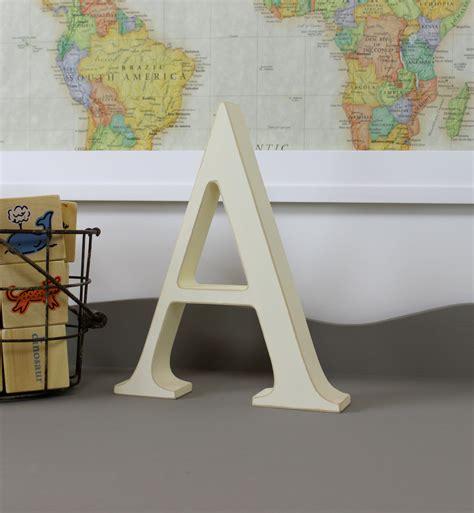 Standing Letter Decor - wood letters free standing wooden letters alphabet decor