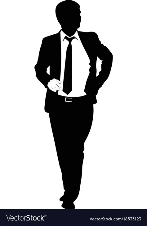 silhouette of a in a business suit royalty free vector