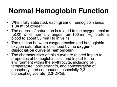 ppt hemoglobin synthesis structure function