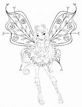 Pages Coloring Nebula Winx Club Template sketch template