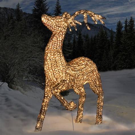 Weihnachtsdekoration Beleuchtet Außen by 3d Led Acryl Schmuckfigur Springendes Rentier Warmwei 223 E