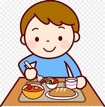 Lunch Eating Clip Cartoon Child Nursery