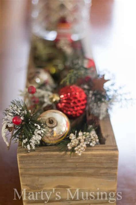 Rustic Christmas Centerpiece  Marty's Musings