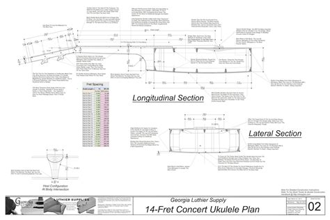 concert sized  fret ukulele plans electronic version