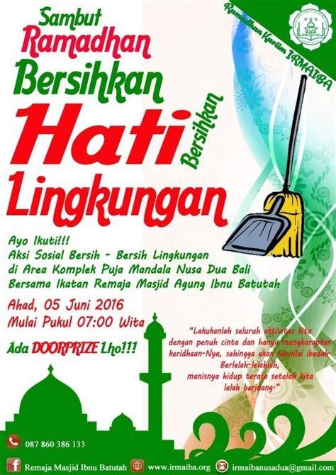 Bukan hanya dengan spanduk saja kita bisa menciptakan suasana ramadhan di rumah kita. 21+ Contoh Poster Pendidikan, Kebersihan, Kesehatan Sangat Menarik