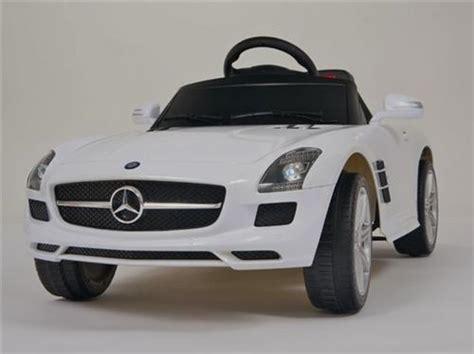 white mercedes benz lic sls amg ride  remote control power kids car wheels lincolns mini