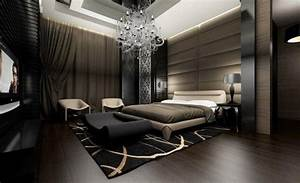 Idee chambre adulte luxe 29 photos de meubles et deco for Best brand of paint for kitchen cabinets with papiers peints de luxe