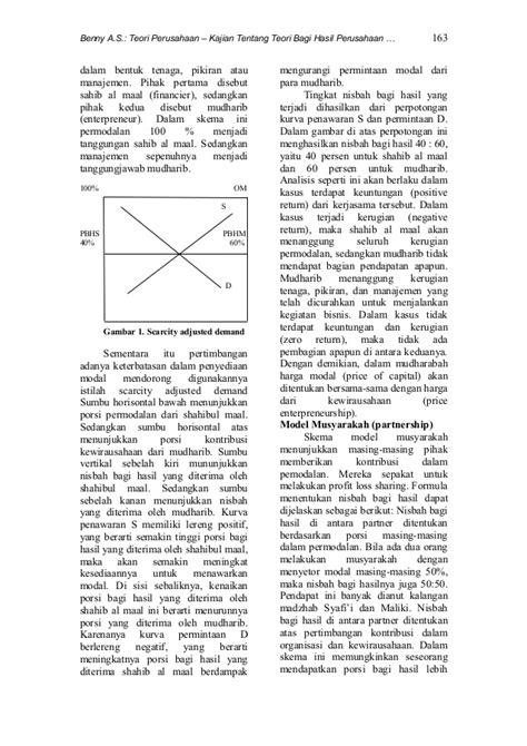 Jurnal PDP Vol 5 No. 2 TEORI BAGI HASIL PERUSAHAAN DALAM