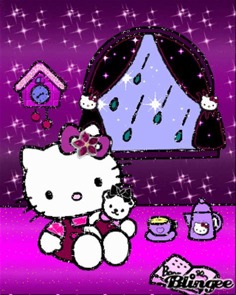gambar animasi hujan  kitty lucu gambar animasi lucu  unik