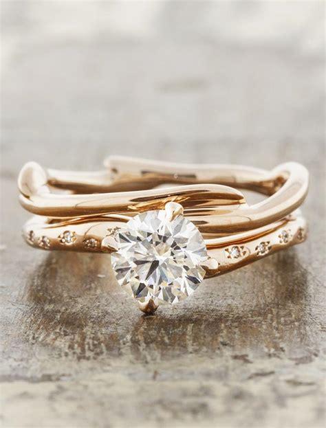 kennedia branch wedding ring earthy organic ken design