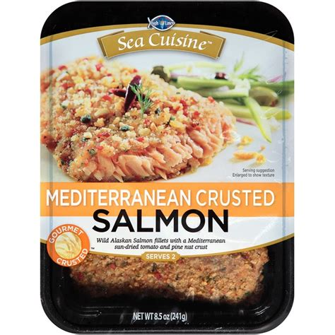 ea cuisine sea cuisine mediterranean crusted salmon 8 5 oz from cub