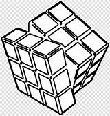Cube Clipart Coloring Ice Cubes Transparent Webstockreview Rubiks sketch template