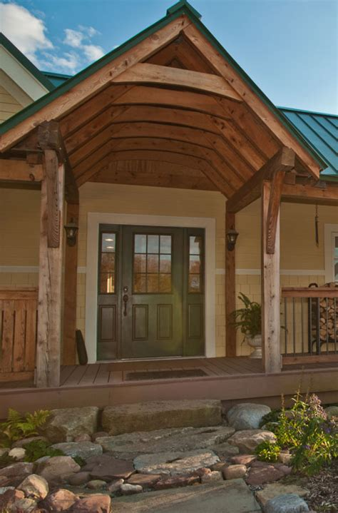 timber frame entrance gallery  heritage woodworking