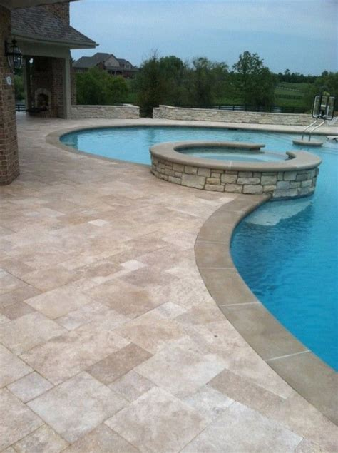 25 best ideas about travertine pavers on pool