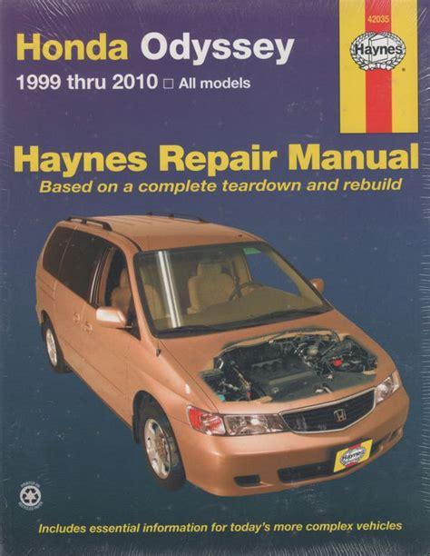 car engine manuals 1999 honda odyssey auto manual honda odyssey 1999 2010 haynes service repair manual workshop car manuals repair books