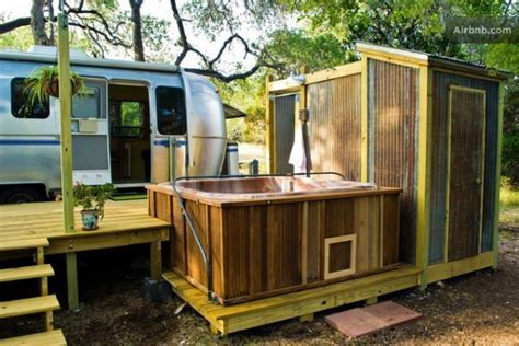 """Airstream """"Tiny House"""" with Deck, Hot Tub, Fire Pit and"""