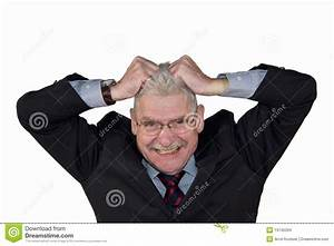 Caucasian Senior Manager Freaking Out Stock Photo