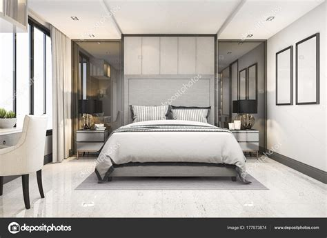 Da Lusso by Suite Letto Lusso Moderno Bianco Rendering Hotel