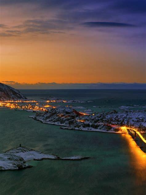 Norway Illuminated Bing Wallpaper Download