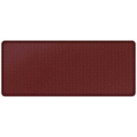 gelpro basketweave comfort floor mat gelpro classic basketweave cranberry 20 in x 48 in