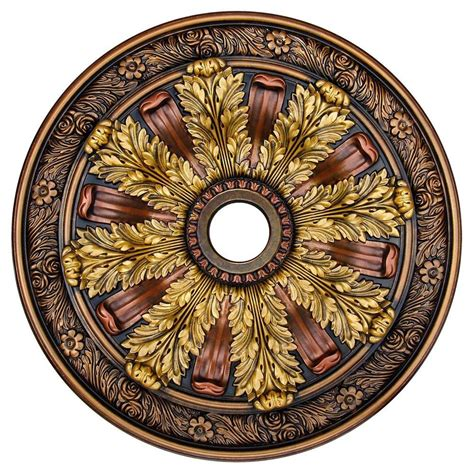 Two Ceiling Medallions Cheap by Deco Illusion Bronze Gold Copper 30