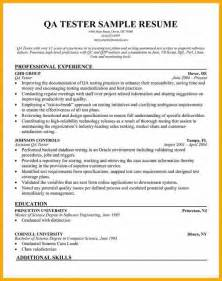 Tester Resume by 11 Qa Tester Resume Bursary Cover Letter