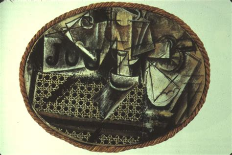 picasso still chair with caning collage geometry in architecture unit 16
