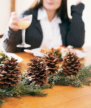 pine cone christmas table decorations 17 easy christmas decorations real simple