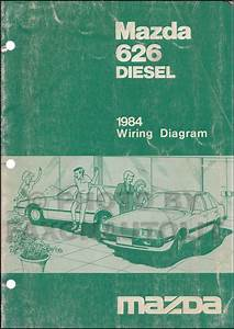 1984 Mazda 626 Diesel Repair Shop Manual Supplement Original