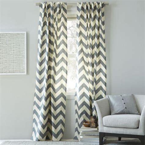 chevron pattern drapes cotton canvas zigzag curtain feather gray west elm
