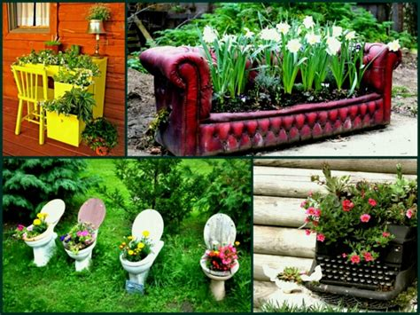 deco jardin recup idees pour donner une seconde vie aux