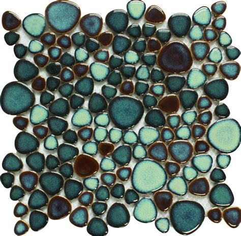 pebble mosaic tile green porcelain pebble tile heart shaped mosaic glazed wall tiles bravotti com